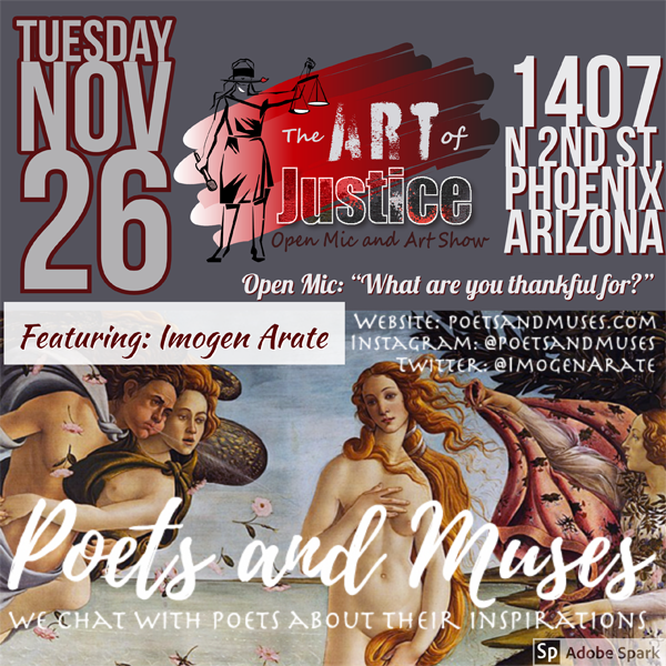 Poets and Muses Event Page: 11262019 Art of Justice Event